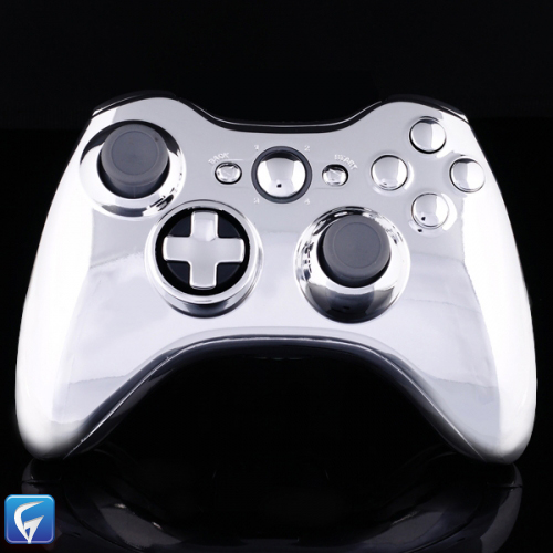 Xbox 360 Custom Controller Shell - Chrome Twist D-pad ...