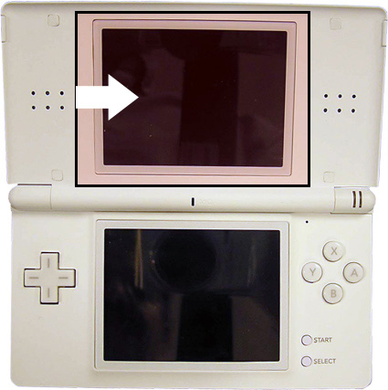ds lite top screen repair service nintendo ds ds lite repair services we will professionally. Black Bedroom Furniture Sets. Home Design Ideas