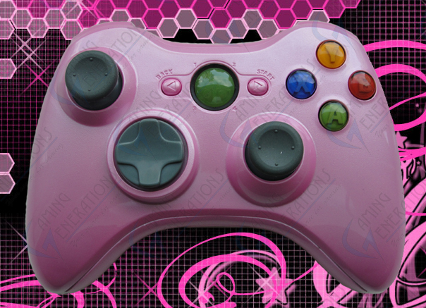 Xbox 360 Wireless Controller - Gloss Pink - Customize It!