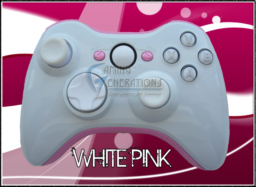 XBOX 360 Wireless Controller - White Pink Edition